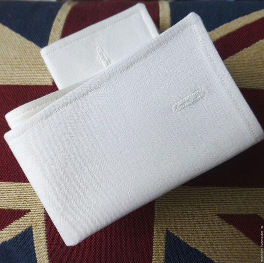 Белые съемные манжеты из ткани