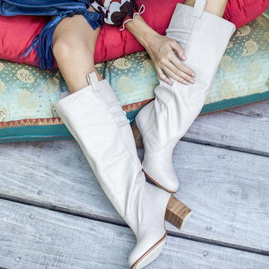 Обувь ручной работы. Ярмарка Мастеров - ручная работа. Купить Lost Lover. Стильные кожаные сапоги для весны и осени.. Handmade.