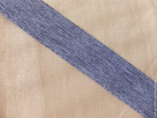 Шитье ручной работы. Ярмарка Мастеров - ручная работа. Купить Резинка джинсовая 3,5см. Handmade. Голубой, резинка декоративная
