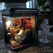 """Куклы и игрушки ручной работы. Ярмарка Мастеров - ручная работа Миниатюра """"За кулисами"""". Handmade."""