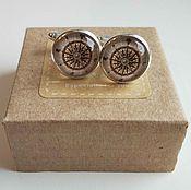 Украшения handmade. Livemaster - original item Cufflinks silver plated rose of the winds. Handmade.