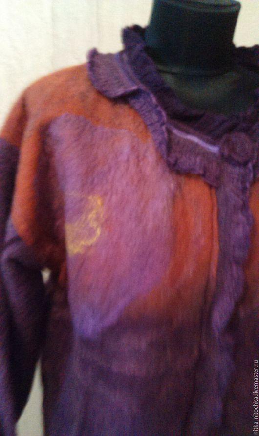 """Пиджаки, жакеты ручной работы. Ярмарка Мастеров - ручная работа. Купить Жакет """"Сирень"""". Handmade. Комбинированный, валяная шерсть"""