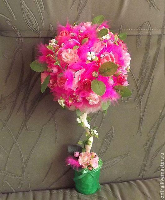 Цветы ручной работы. Ярмарка Мастеров - ручная работа. Купить Топиарий Розовый. Handmade. Розовый, топиарий, ручная работа, подарок