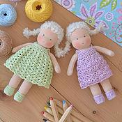 Куклы и игрушки ручной работы. Ярмарка Мастеров - ручная работа Вальдорфские куклы Цветочные малышки. Handmade.