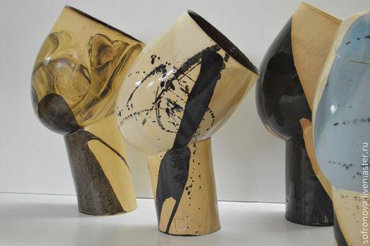 Элементы интерьера ручной работы. Ярмарка Мастеров - ручная работа. Купить Азия. Handmade. Чёрно-белый, интерьер, керамическая ваза