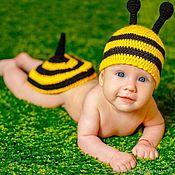 Толстовка ручной работы. Ярмарка Мастеров - ручная работа Костюм для фототосессии новорожденных пчелка или пчеленок.. Handmade.