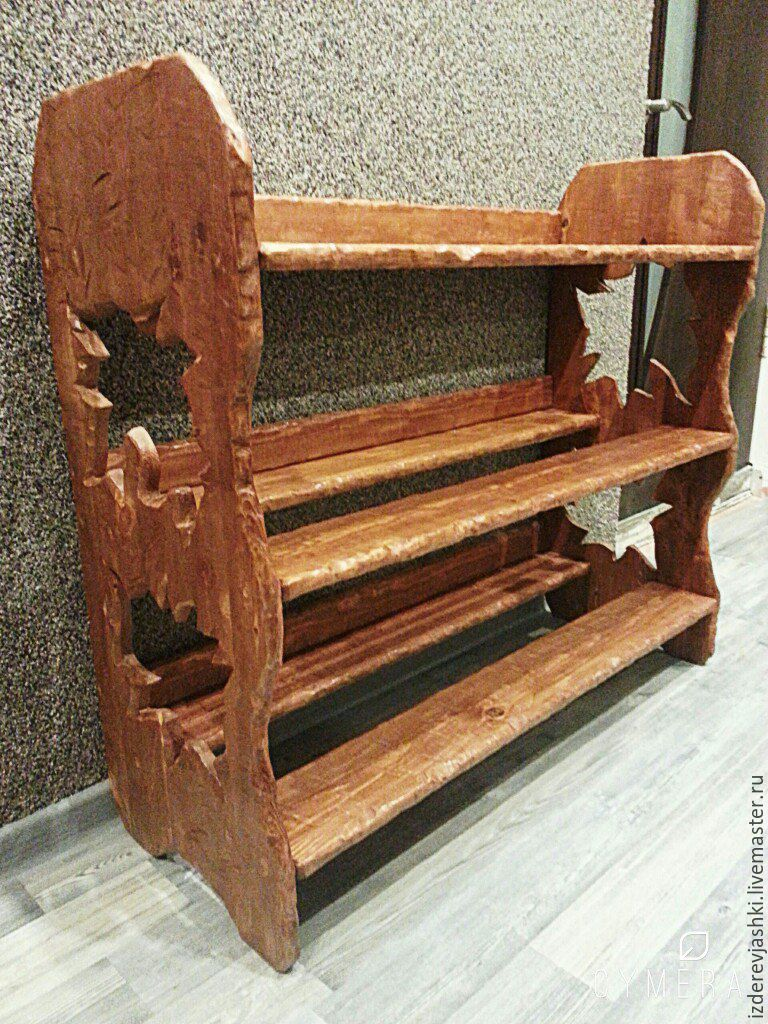 Shoe Cabinet made of solid wood, Shelves, St. Petersburg,  Фото №1
