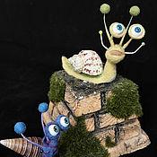 Куклы и игрушки ручной работы. Ярмарка Мастеров - ручная работа Улитки. Handmade.