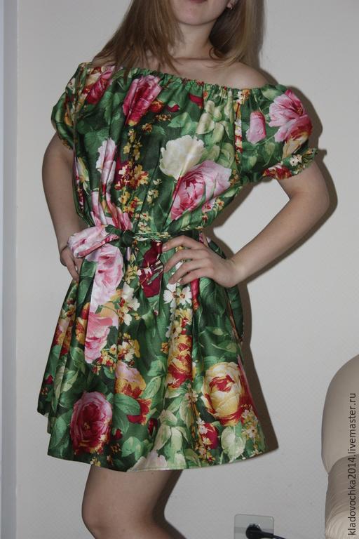 Платья ручной работы. Ярмарка Мастеров - ручная работа. Купить Маленький Летний зной. Handmade. Разноцветный, платье на лето, зеленый