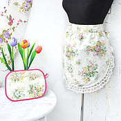 Для дома и интерьера handmade. Livemaster - original item Apron and potholder Summer mood. Handmade.