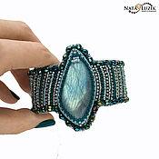 Украшения handmade. Livemaster - original item Beaded bracelet with labradorite turquoise Breeze big women bracelet. Handmade.