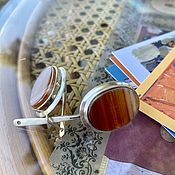Винтаж handmade. Livemaster - original item Parisian Deco. Vintage earrings with agate.. Handmade.