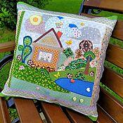 Для дома и интерьера handmade. Livemaster - original item Pillow case decorative. Pillowcase for children`s