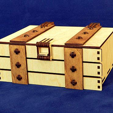 Для дома и интерьера ручной работы. Ярмарка Мастеров - ручная работа Шкатулка сундук для подарков. Handmade.