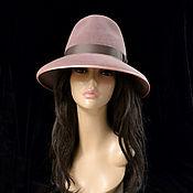 Аксессуары handmade. Livemaster - original item hats: Fedora dusty rose. Handmade.