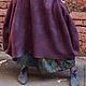 """Юбки ручной работы. Ярмарка Мастеров - ручная работа. Купить Юбка валяная """"WINTER PLUM"""". Handmade. Бордовый, длинная юбка"""