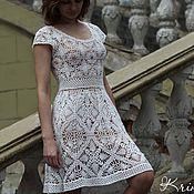 Одежда ручной работы. Ярмарка Мастеров - ручная работа Белое летнее платье из хлопка. Handmade.