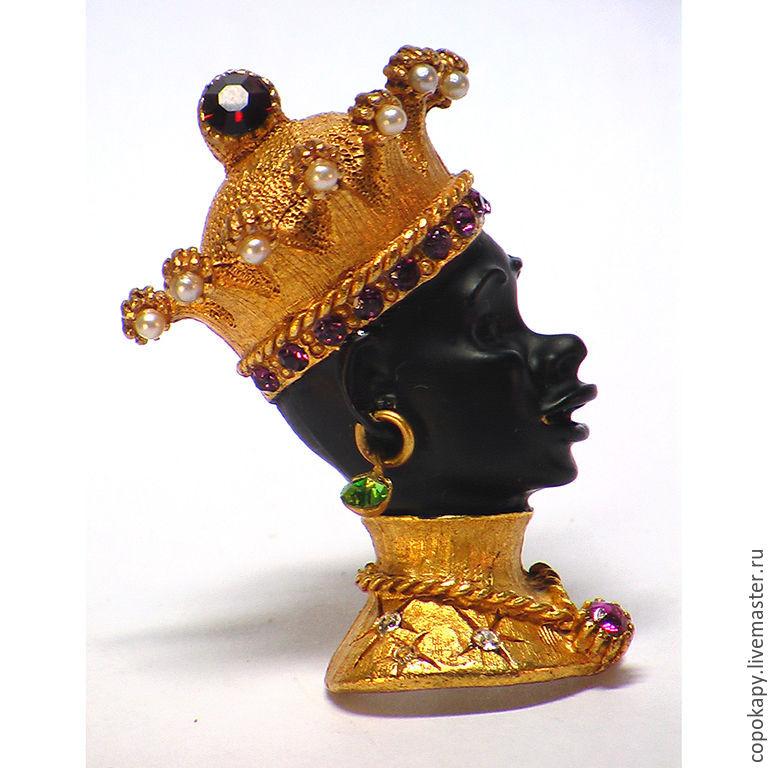 Винтаж: Брошь Африканский король, Askew London – купить на Ярмарке Мастеров – 76IHDRU | Броши винтажные, Егорьевск