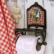 Держатели ручной работы. Ярмарка Мастеров - ручная работа держатель для туалетной бумаги с полочкой Тедди. Handmade.