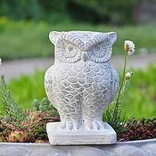 Для дома и интерьера handmade. Livemaster - original item The garden Owl statue made of concrete in the Provence style, decoration for flower beds. Handmade.