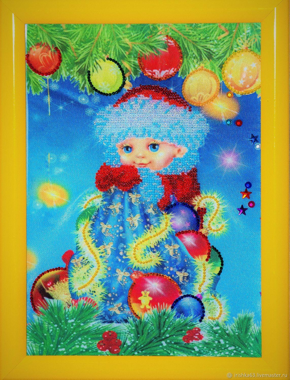 Winter angel, rhinestones, Panels, Kazan,  Фото №1