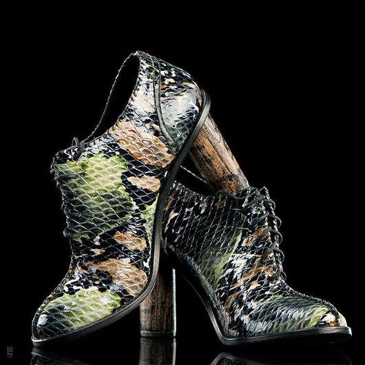Обувь ручной работы. Ярмарка Мастеров - ручная работа. Купить Ботильоны balagura. Handmade.