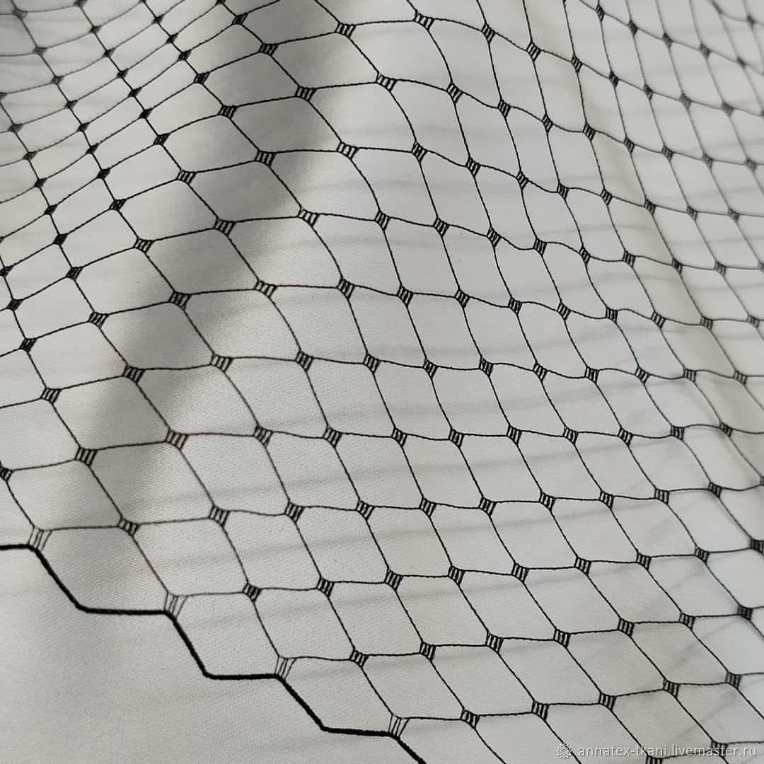 Шляпная сеточка цвет черный, Ткани, Москва,  Фото №1