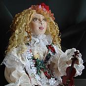 Куклы и игрушки handmade. Livemaster - original item violinist. Handmade.