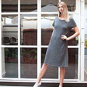 Одежда ручной работы. Ярмарка Мастеров - ручная работа Летнее платье из твида. Handmade.