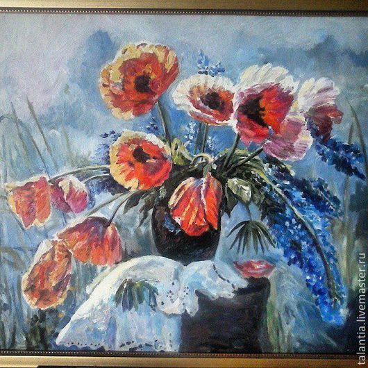 """Картины цветов ручной работы. Ярмарка Мастеров - ручная работа. Купить Картина """"Маки"""". Handmade. Маки, цветочный, картина для настроения"""