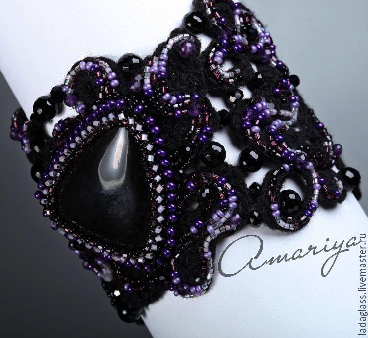 Bracelet 'Night Quin', Bead bracelet, Sarov,  Фото №1