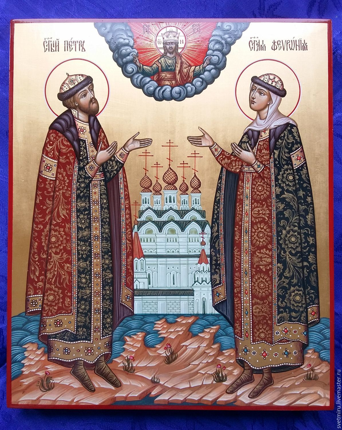 Peter and Fevronia of Murom saints of Miracles.The icon is handwritten, Icons, St. Petersburg,  Фото №1