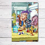 """Открытки ручной работы. Ярмарка Мастеров - ручная работа Открытка для посткроссинга """"Ромашки спрятались"""". Handmade."""