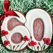 Подарки к праздникам ручной работы. Ярмарка Мастеров - ручная работа Имбирный пряник. Юбилейный. Handmade.