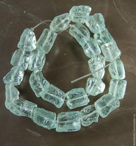 Для украшений ручной работы. Ярмарка Мастеров - ручная работа. Купить Кварц тонированный, аква-кварц голубой прозрачный, бусины кристаллы.. Handmade.