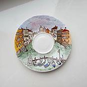 """Посуда ручной работы. Ярмарка Мастеров - ручная работа Чайная пара """"Уютная Венеция"""". Handmade."""