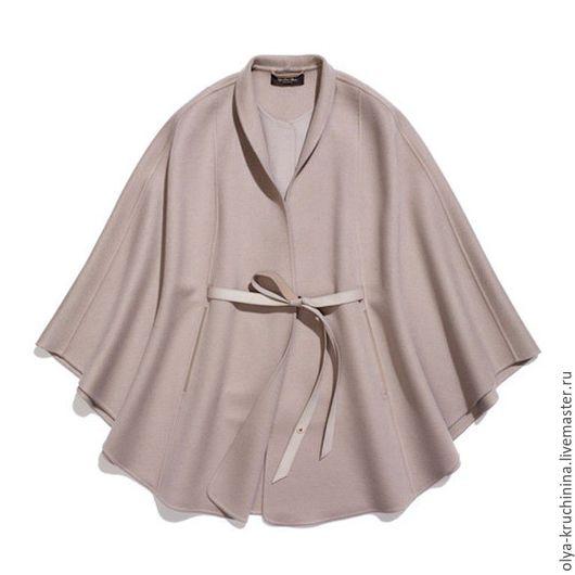 Верхняя одежда ручной работы. Ярмарка Мастеров - ручная работа. Купить Кейп из кашемира. Handmade. Бежевый, кашемировое пальто, кашемир