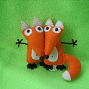 """Мягкие игрушки ручной работы. Ярмарка Мастеров - ручная работа Игрушка из фетра """"Лисичка"""". Handmade."""