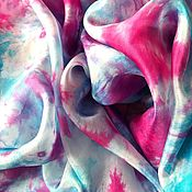 """Аксессуары ручной работы. Ярмарка Мастеров - ручная работа Шелковый платок """"Закат"""". Handmade."""