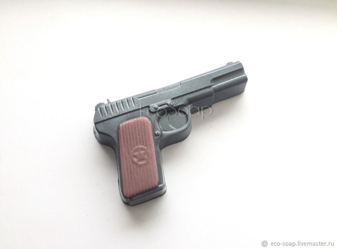 Мыло ручной работы. `Пистолет Стечкина`. Handmade. Подарок на 23 февраля. Мужское мыло. Подарок для мужчин.