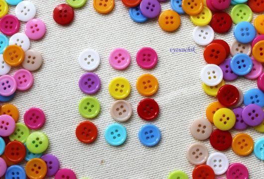 Шитье ручной работы. Ярмарка Мастеров - ручная работа. Купить Пуговицы 13 мм 12 цветов. Handmade. Пуговицы для игрушек