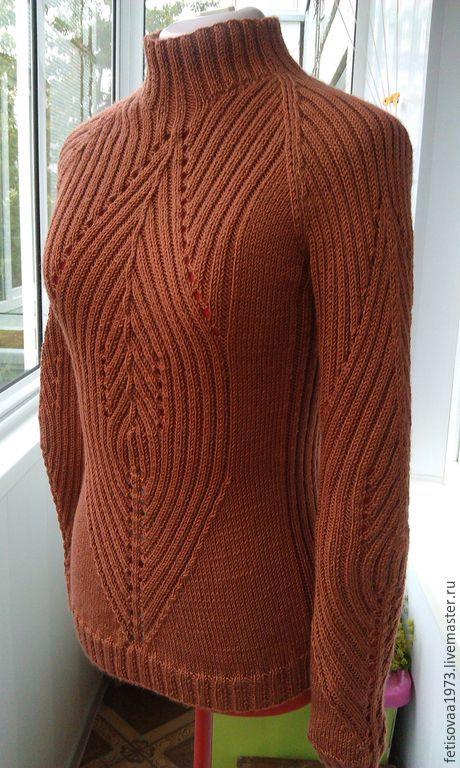 Кофты и свитера ручной работы. Ярмарка Мастеров - ручная работа. Купить Терракотовый свитер-водолазка. Handmade. Рыжий, свитер теплый