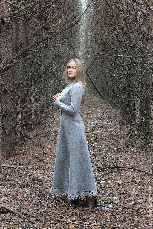 """Платья ручной работы. Ярмарка Мастеров - ручная работа. Купить Теплое шерстяное платье """"Enigma"""". Handmade. Серый, романтический стиль"""