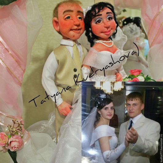 Человечки ручной работы. Ярмарка Мастеров - ручная работа. Купить Жених и невеста. Handmade. Белый, синтепон