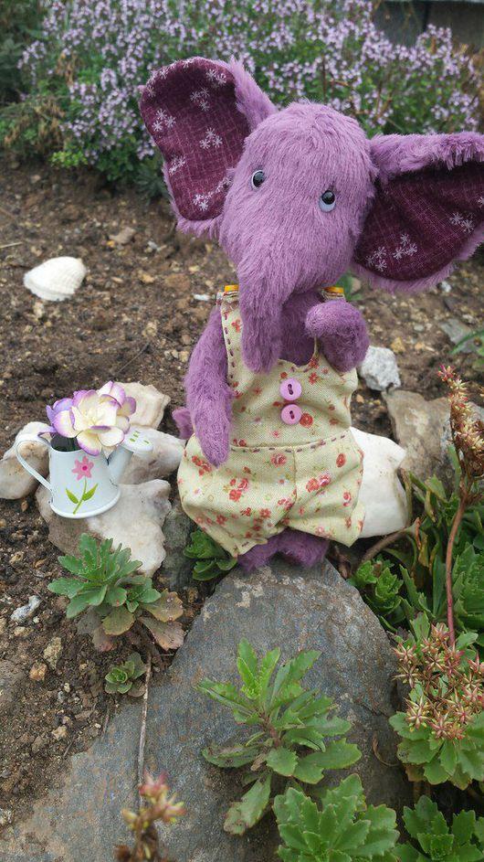 Мишки Тедди ручной работы. Ярмарка Мастеров - ручная работа. Купить Слоняш. Handmade. Слоник тедди, итальянская вискоза