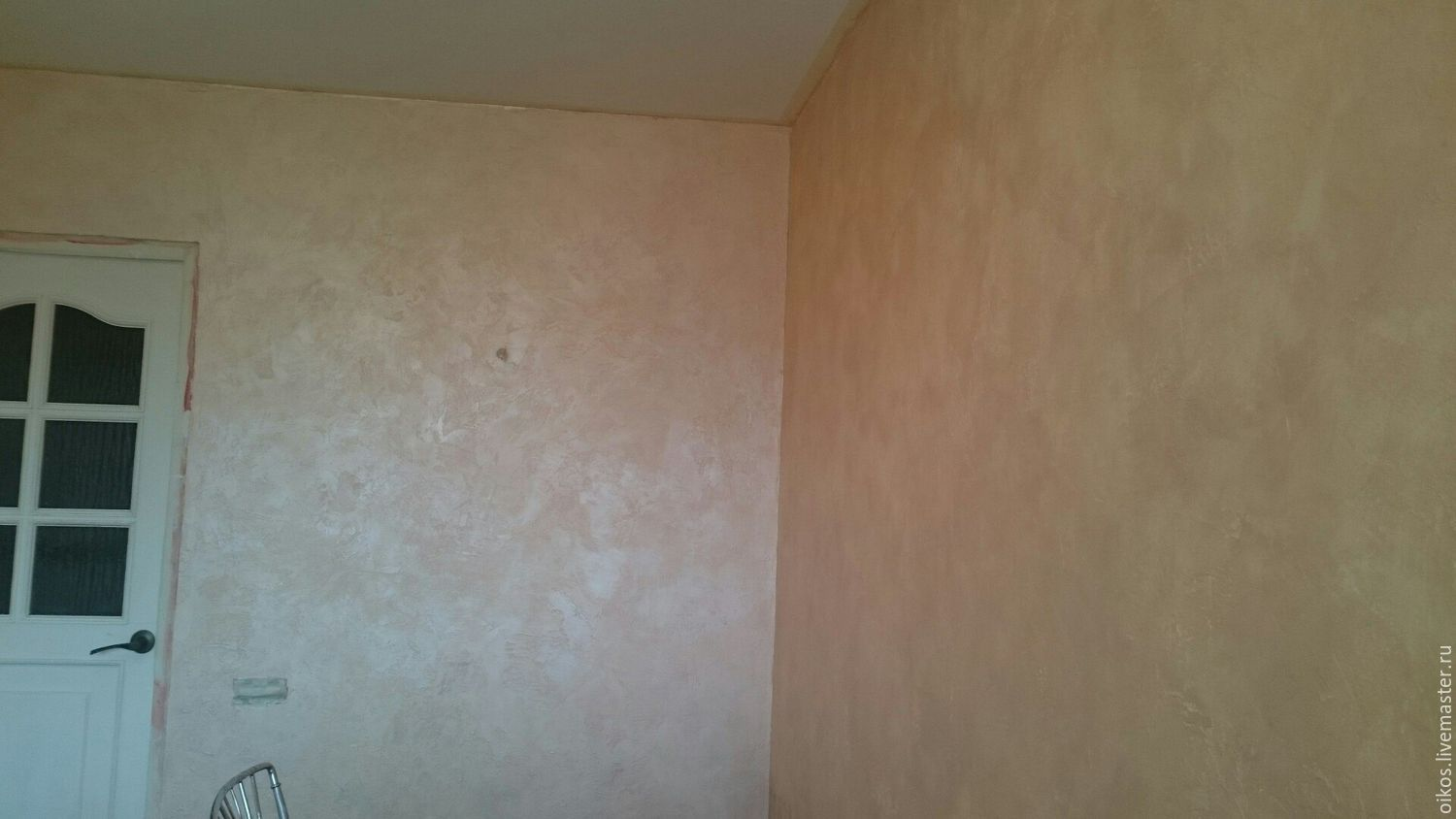 Coating the wall surface with dry gilding in the color tender pink, Decor, St. Petersburg,  Фото №1