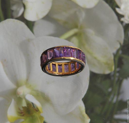 Кольца ручной работы. Ярмарка Мастеров - ручная работа. Купить Кольцо с аметистами Надежда. Handmade. Фиолетовый, кольцо из золота