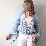 """Одежда ручной работы. Ярмарка Мастеров - ручная работа Кардиган """"Облако"""" вязаный из мохера с мериносом и люрексом. Handmade."""