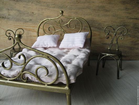 Кукольный дом ручной работы. Ярмарка Мастеров - ручная работа. Купить Кованая кукольная кровать. Handmade. Золотой, Ковка