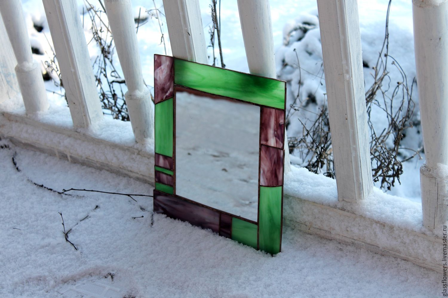 Order Mirror In Stained Frame Gl Tiffany